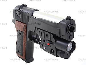 Игровой пистолет с пульками и лазером, P2117-G+, купить