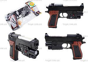 Игровой пистолет с пульками и лазером, P2117-G+