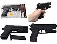 Пистолет с пульками и световыми эффектами, P2118-C+, фото