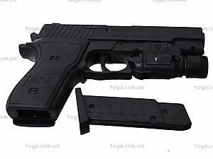 Пистолет с пульками и световыми эффектами, P2118-C+, игрушки