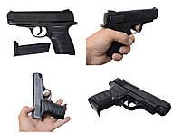 Детский пистолет с комплектом пулек, P328