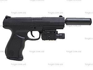Цветной пистолет с пульками и лазером, P9A, игрушки