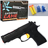 Пистолет «Shooting Game» с мягкими и гелиевыми пулями, 810-1, фото