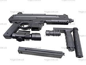 Детский пистолет с глушителем, SM.1306B, toys.com.ua