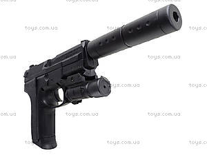 Утяжеленный пистолет с глушителем, SO2022B, детские игрушки