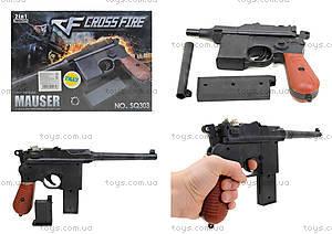 Детский пистолет с пульками Mauser, SQ303