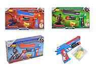 """Пистолет """"Супергерои"""" стреляет поролоновыми пулями, 4 вида, SY160ABCD"""