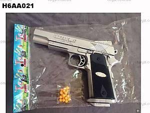 Пистолет игровой с пульками, P501