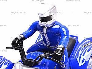 Радиоуправляемый квадроцикл с пилотом, 666-MT06, детские игрушки