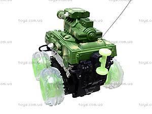 Радиоуправляемый танк со светом, 886-A2, игрушки
