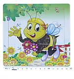 Рамка - пазл мини Пчелка, Р098к, фото