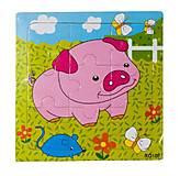 Рамка-пазл «Свинка» Руди, Р098юж, купить