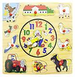 """Рамка-вкладыш """"Часы"""" (Р 35), Р 35, іграшки"""