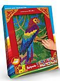 Раскраска глиттером по номерам «Попугай», БМ-02-04, купить