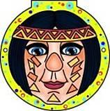 Раскраска - Маски для малышей Клоун, 73987, фото