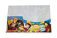 Раскраска на холсте «Маша и пингвин», М-РХ-01-12, игрушки