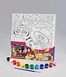 Раскраска на холсте «Маша и тигрюля», М-РХ-02-09, отзывы