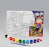Раскраска на холсте «На уроке», РХ-04-08, детские игрушки