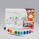 Раскраска на холсте «Свидание машинок», РХ-04-11, фото