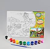 Раскраска на холсте «Веселый пикник», РХ-04-06, игрушки