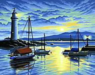 Раскраска по номерам «Гавань на востоке», 0427-KSG, фото