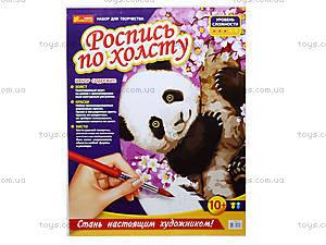 Раскраска по номерам на холсте «Панда», 4946, отзывы