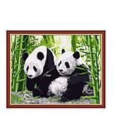 Раскраска по номерам «Панды», КН195, фото