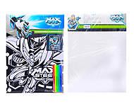 Раскраска с бархатом Max Steel, MX14-156K, игрушки