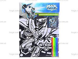 Раскраска с бархатом Max Steel, MX14-156K, отзывы