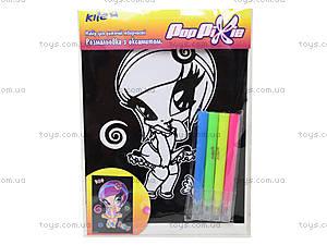 Раскраска с бархатом Pop Pixie, PP14-157K