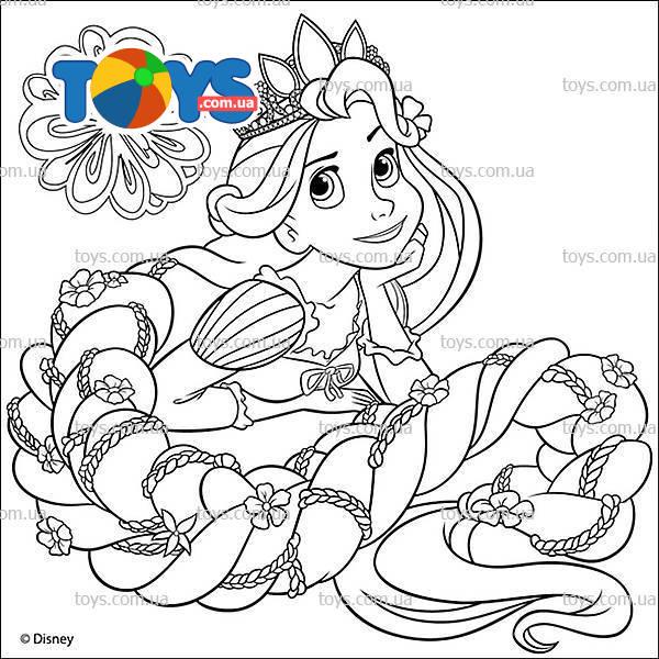 Раскраска для девочек рапунцель распечатать - 4