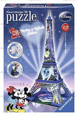 3D Пазл-ночник «Микки и Минни - Эйфелева башня», 12570