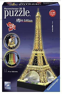 3D Пазл-ночник «Ночная Эйфелева башня», 12579, цена