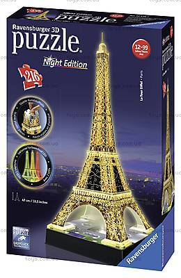 3D Пазл-ночник «Ночная Эйфелева башня», 12579, игрушки