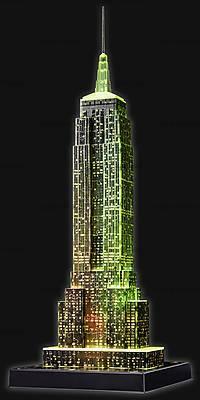 3D Пазл-ночник «Ночной Empire State Building», 12566, toys.com.ua