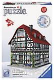 3D Пазл Ravensburger «Средневековый дом», 12572, магазин игрушек