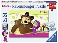Пазл Ravensburger «Маша и Медведь», 09046R, фото