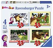 Пазлы Ravensburger 4в1 «Маша и Медведь», 07028R, фото