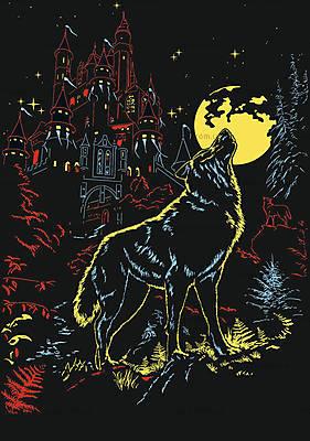 Пазл детский Ravensburger «Волк и луна» светящийся, 16186, купить
