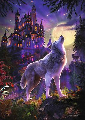 Пазл детский Ravensburger «Волк и луна» светящийся, 16186