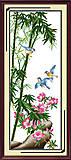 Райские птицы, вышивка картины крестиком, H105, фото