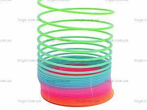 Разноцветная игрушка-пружинка, 40-8, фото