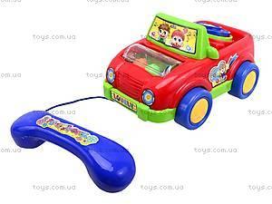 Развивающая каталка-телефон, JS6002, игрушки