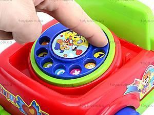 Развивающая каталка-телефон, JS6002, магазин игрушек