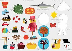 Развивающие наклейки «Времена года», DJ08378, игрушки