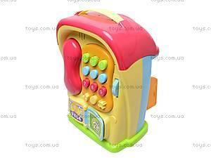 Развивающий домик-телефон, 586A (765895), детские игрушки