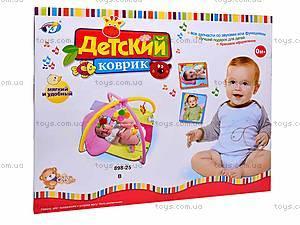 Развивающий коврик, с подвесками, 898-25B, игрушки