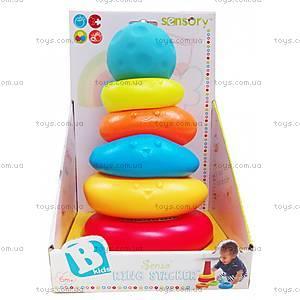 Развивающая текстурная игрушка «Радужная пирамидка» , 005352S