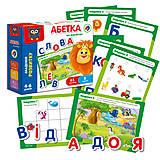 Развивающая игра «Азбука на магнитах» украинский язык, VT5411-03, детские игрушки