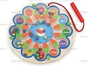 Развивающая игрушка Viga Toys Магнитный лабиринт «Часы», 59980
